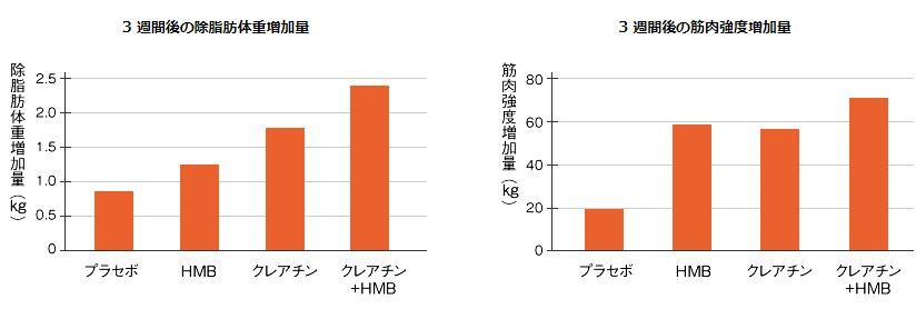 HMBとクレアチンの効果